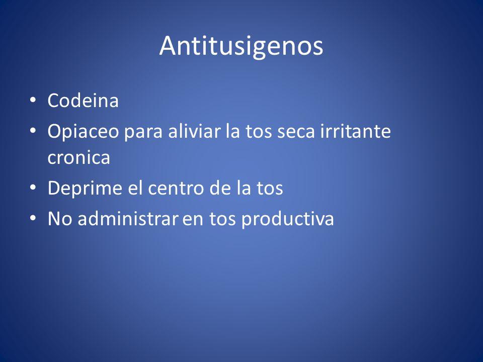 Antitusigenos Codeina