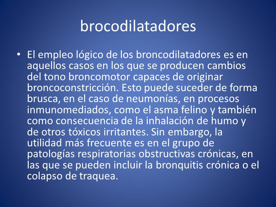 brocodilatadores