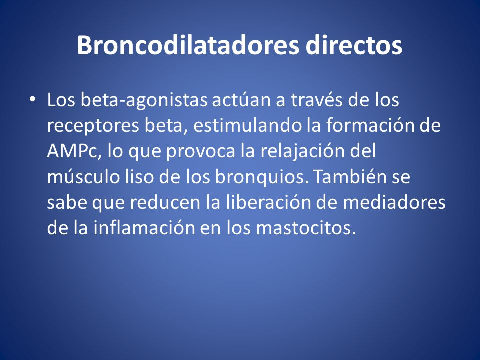 Broncodilatadores directos