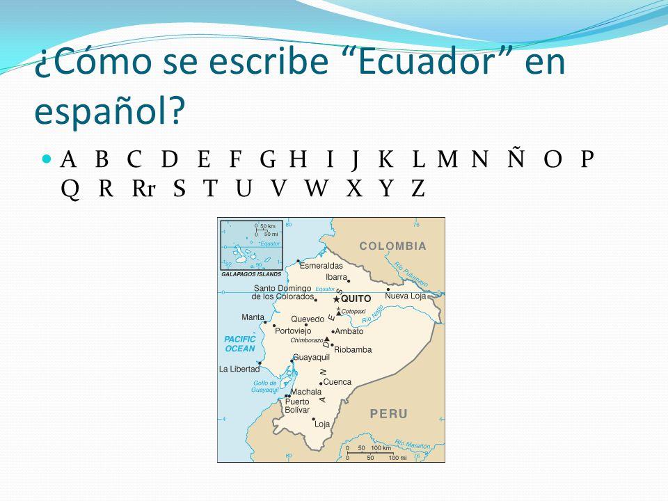 ¿Cómo se escribe Ecuador en español