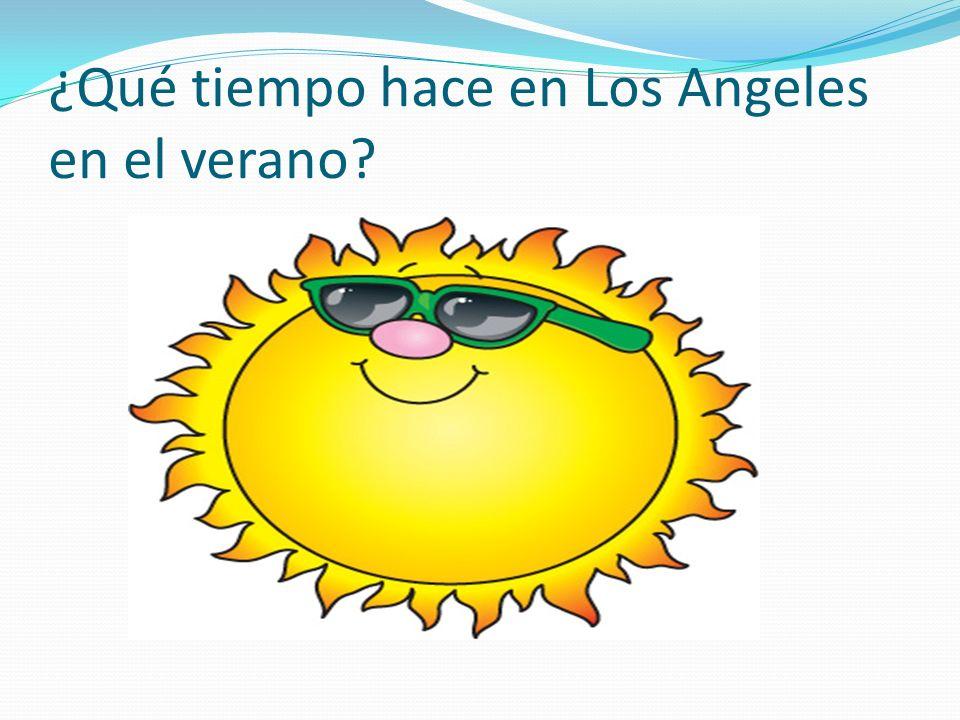 ¿Qué tiempo hace en Los Angeles en el verano