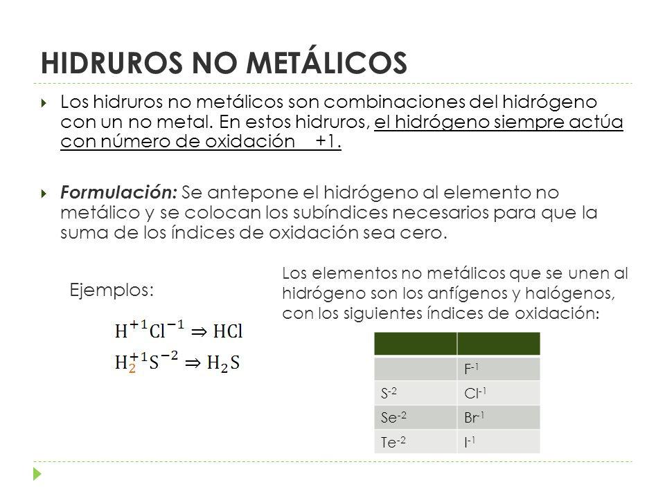 HIDRUROS NO METÁLICOS