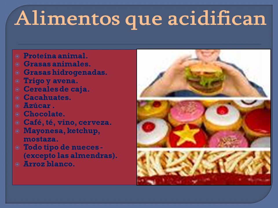 Alimentos que acidifican