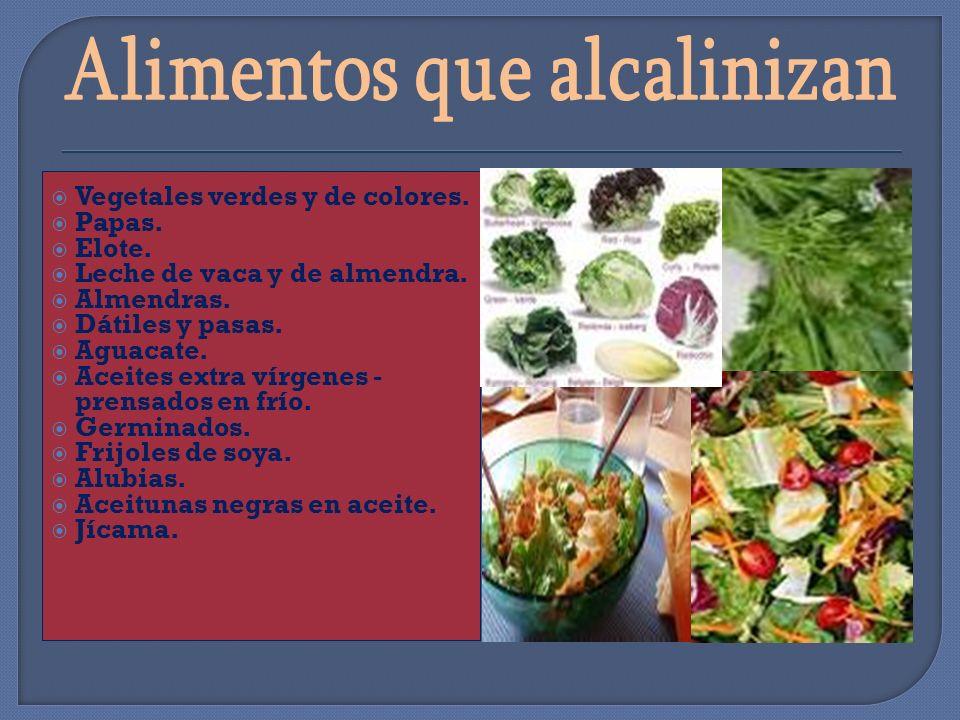 Alimentos que alcalinizan