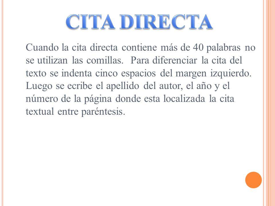 CITA DIRECTA
