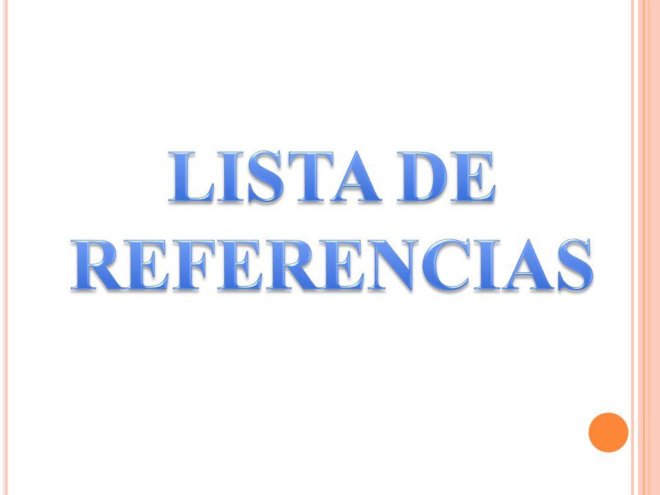 LISTA DE REFERENCIAS