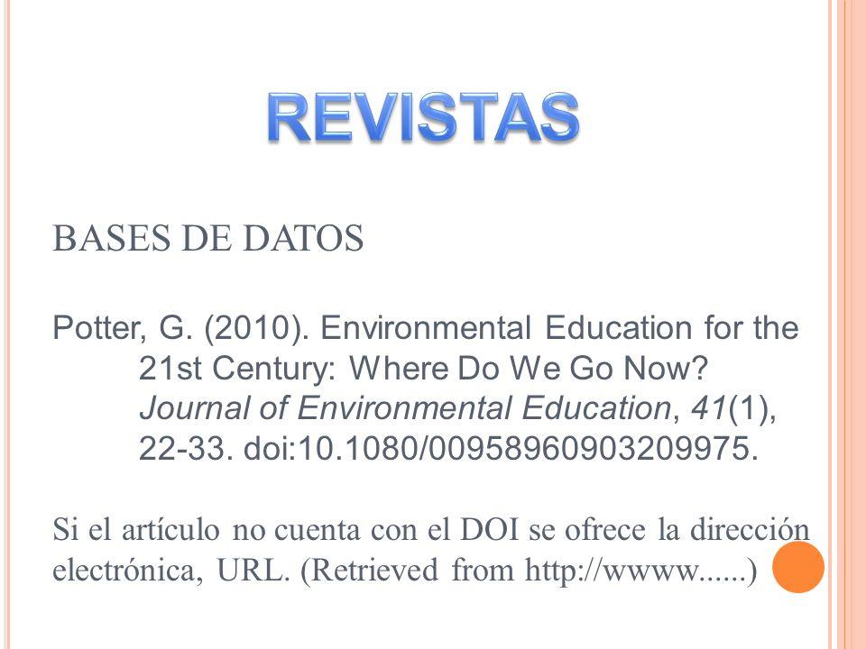 REVISTAS BASES DE DATOS