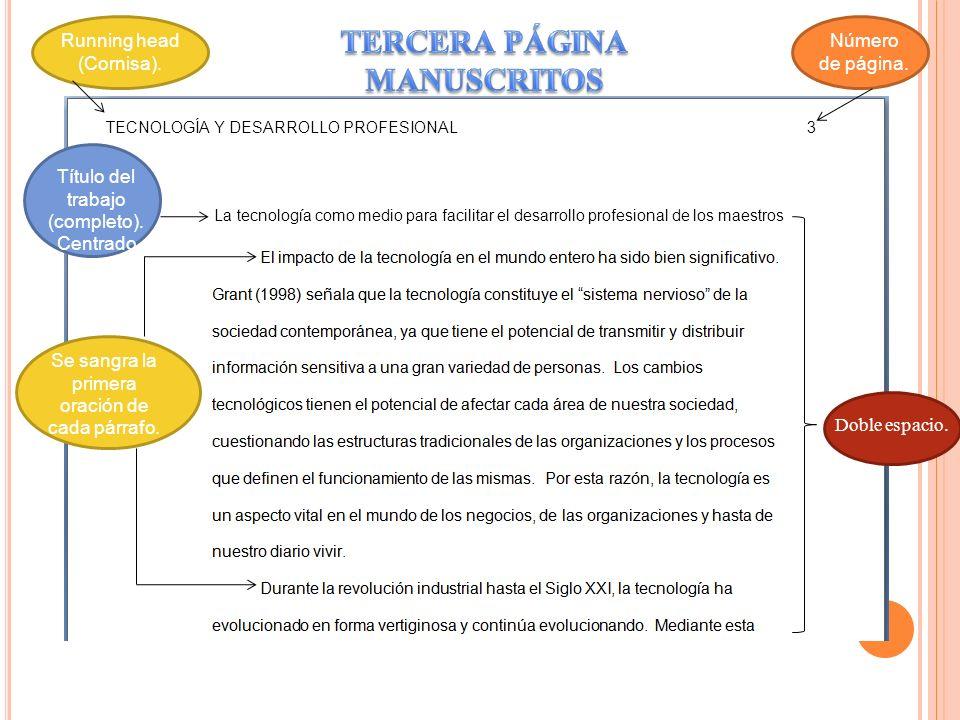 TERCERA PÁGINA MANUSCRITOS