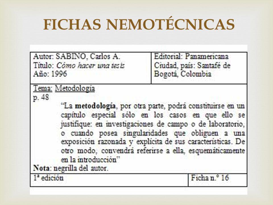 FICHAS NEMOTÉCNICAS