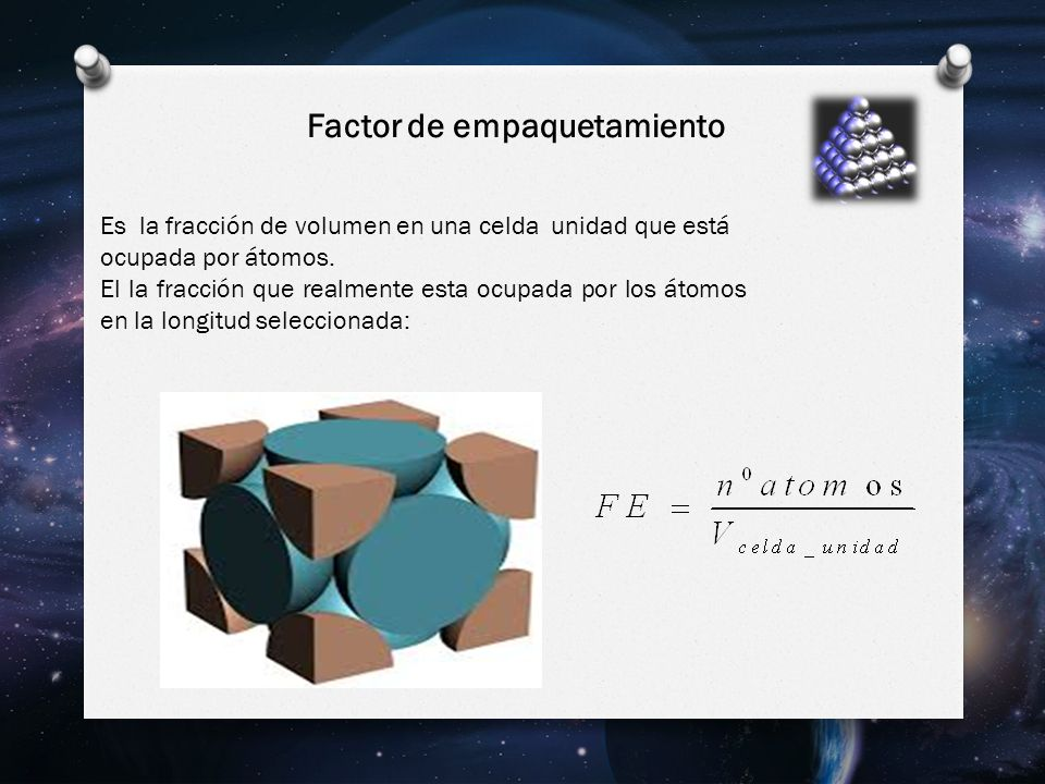 Factor de empaquetamiento