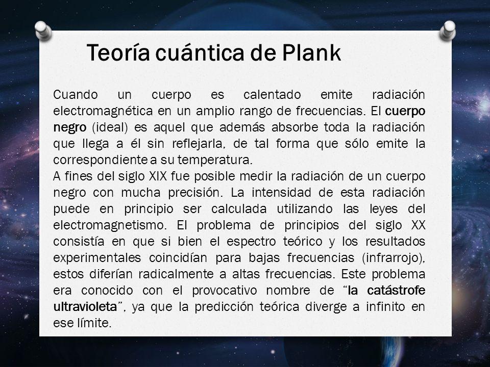Teoría cuántica de Plank