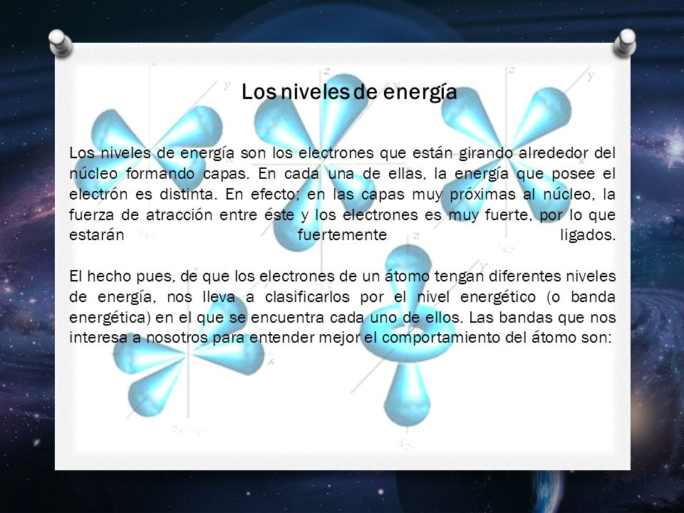 Los niveles de energía