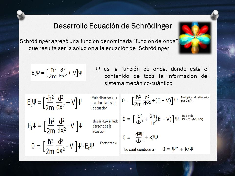 Desarrollo Ecuación de Schrödinger