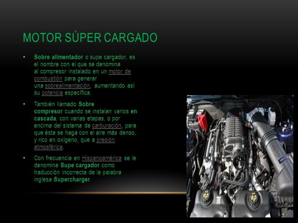 Motor súper cargado