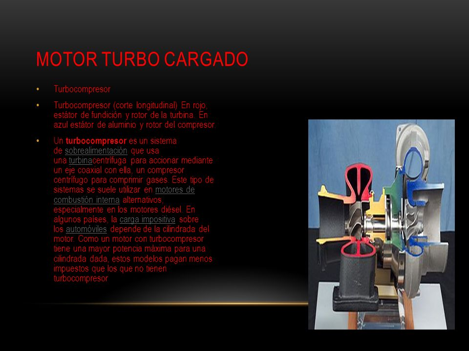 Motor turbo cargado Turbocompresor