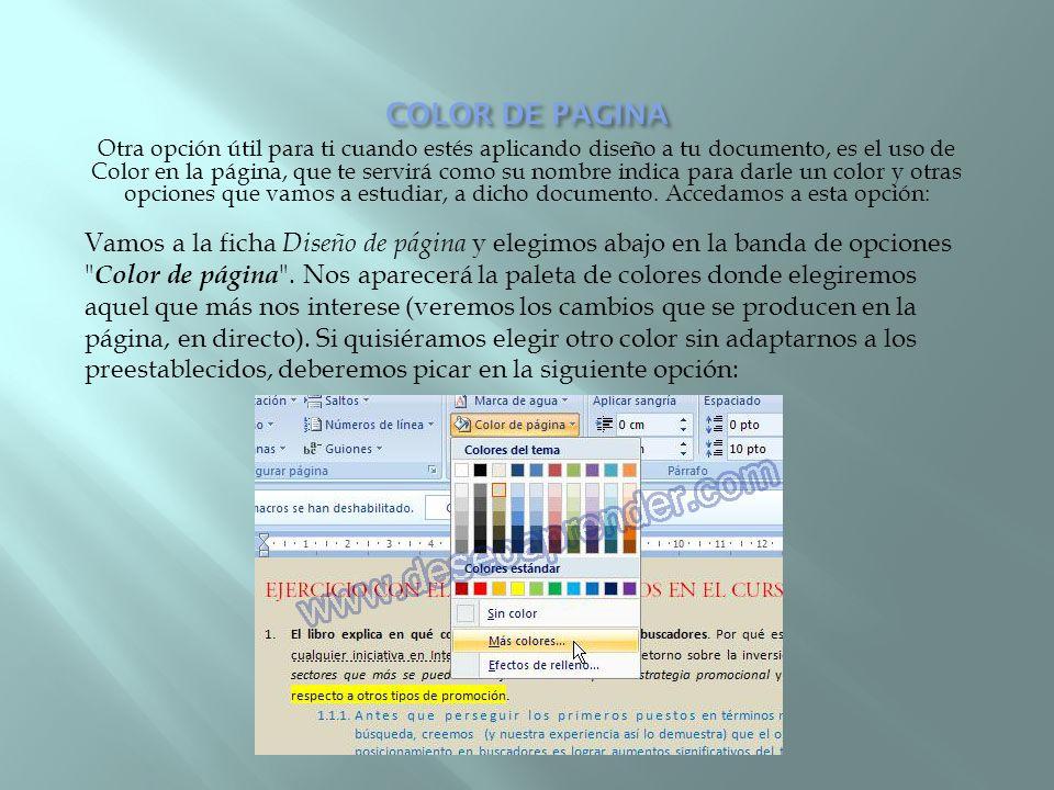 COLOR DE PAGINA