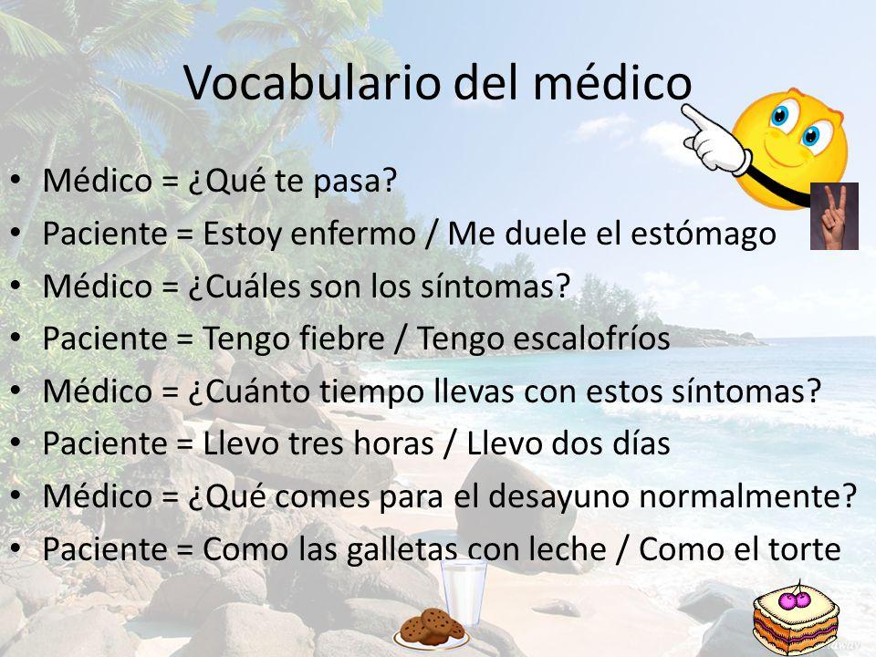 Vocabulario del médico