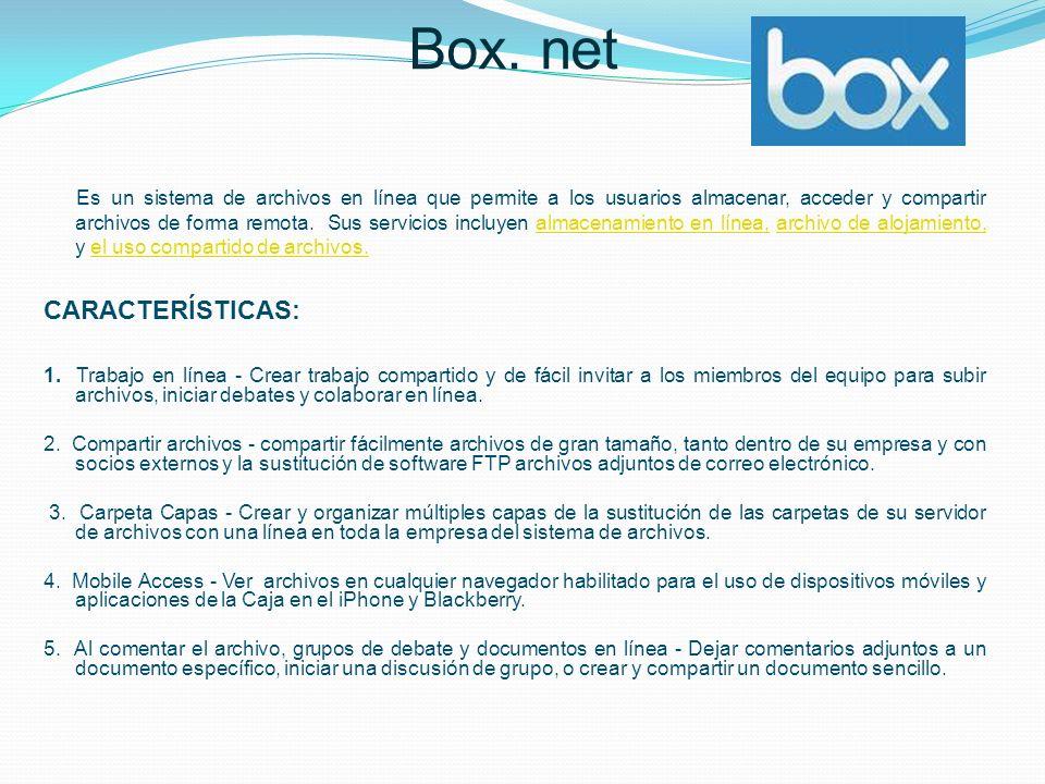 Box. net CARACTERÍSTICAS: