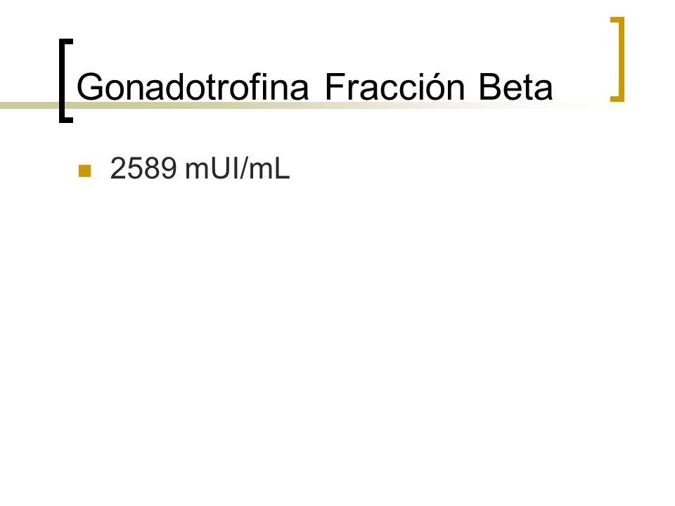 Gonadotrofina Fracción Beta