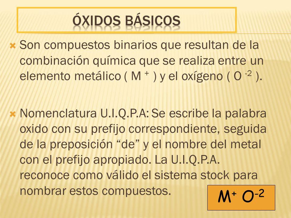 ÓXIDOS BÁSICOS