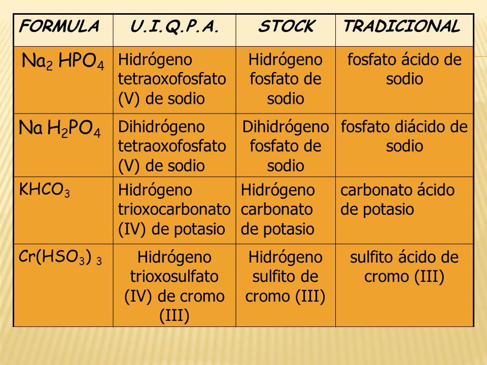 Na2 HPO4 Na H2PO4 FORMULA U.I.Q.P.A. STOCK TRADICIONAL
