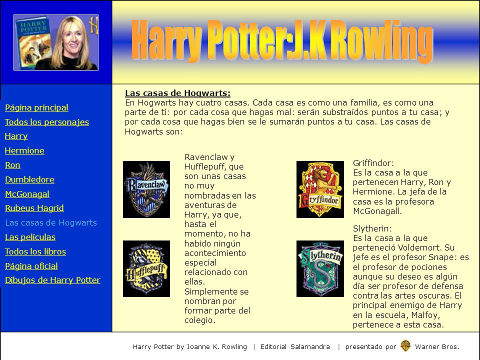 Harry Potter:J.K Rowling