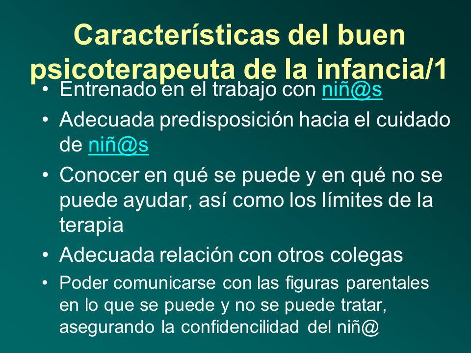 Características del buen psicoterapeuta de la infancia/1