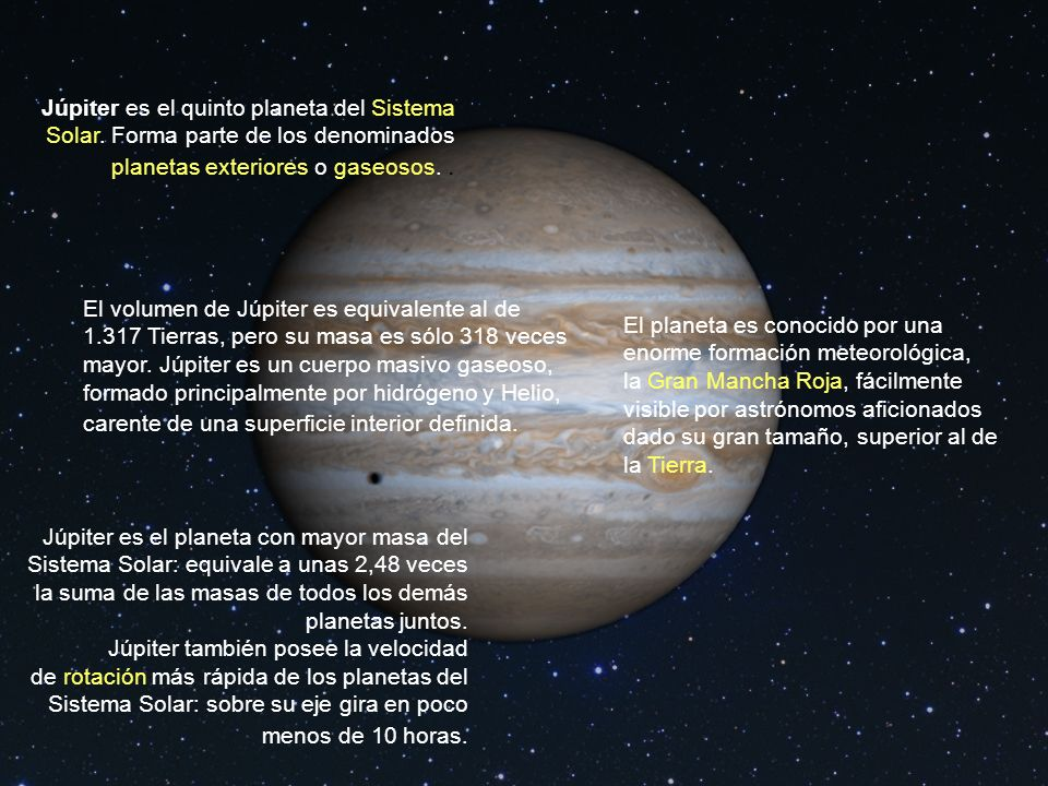 Júpiter es el quinto planeta del Sistema Solar