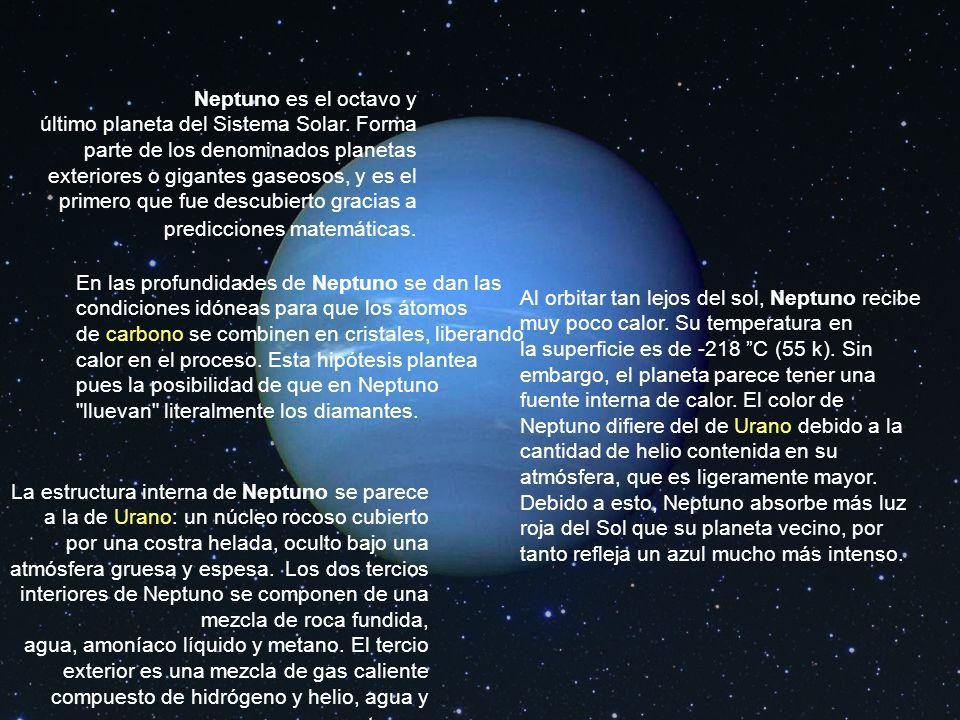 Neptuno es el octavo y último planeta del Sistema Solar