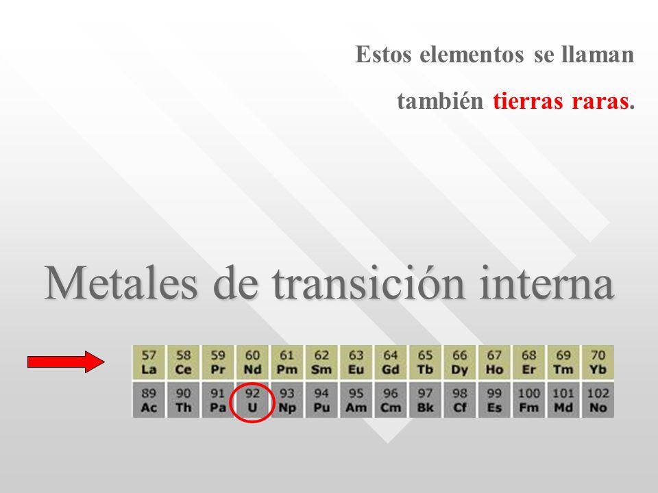 Metales de transición interna