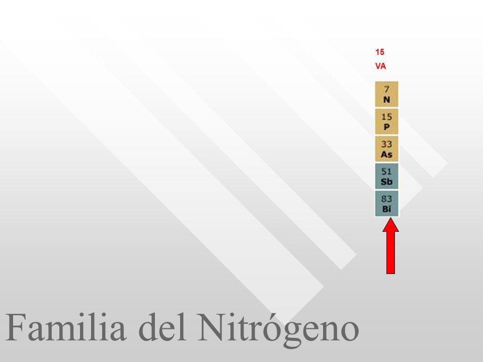 15 VA Familia del Nitrógeno