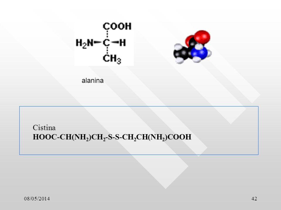 Cistina HOOC-CH(NH2)CH2-S-S-CH2CH(NH2)COOH