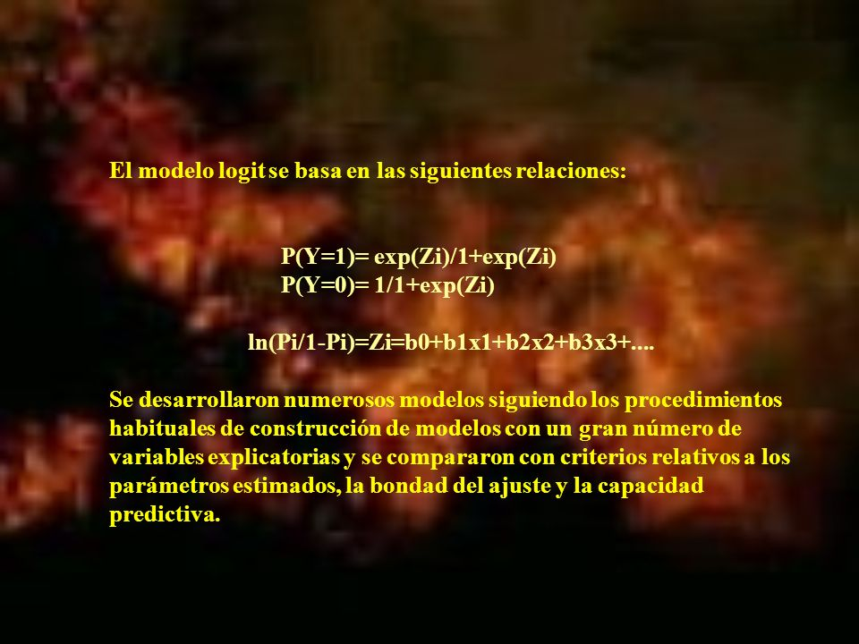 ln(Pi/1-Pi)=Zi=b0+b1x1+b2x2+b3x3+....