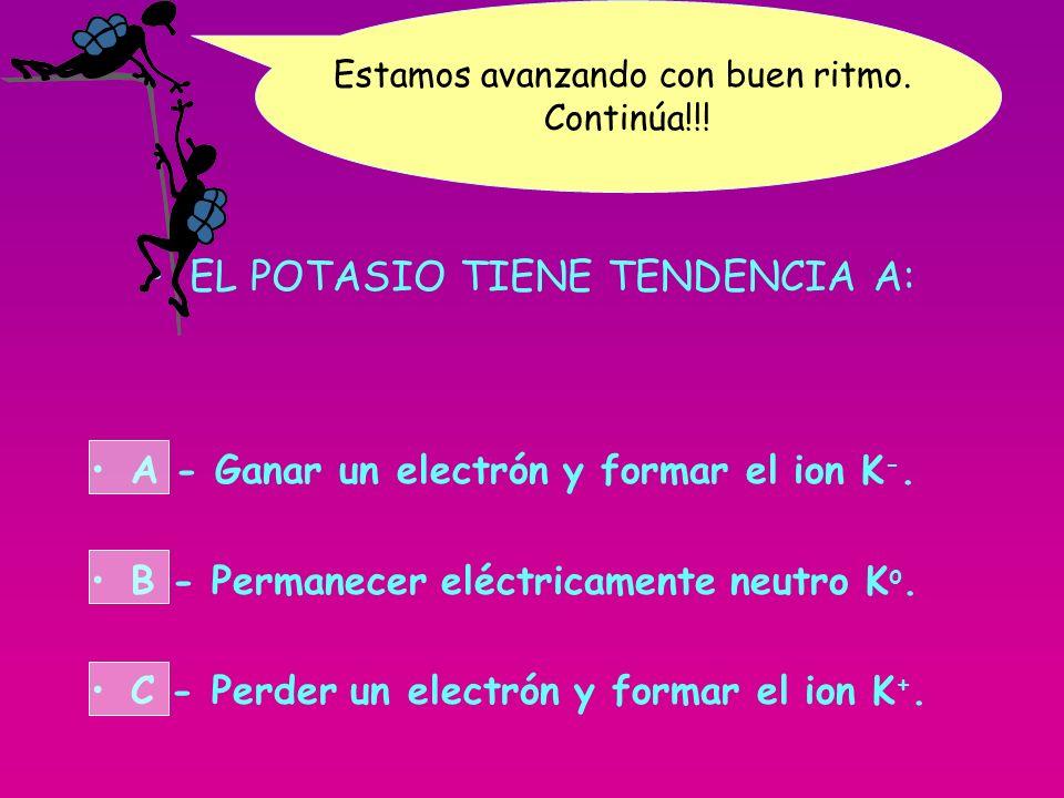 EL POTASIO TIENE TENDENCIA A: