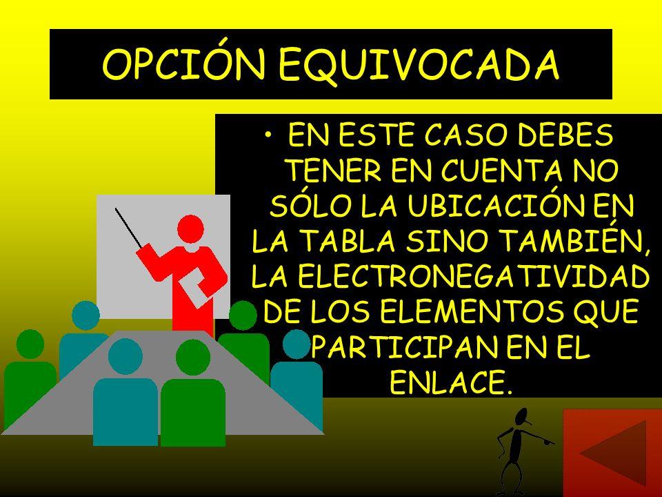 OPCIÓN EQUIVOCADA