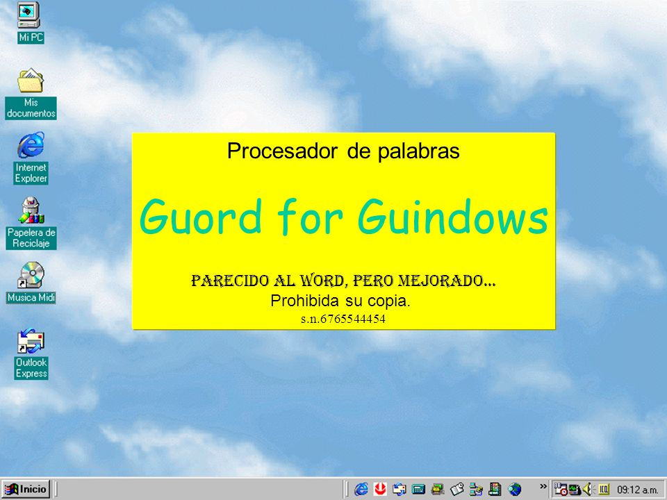 Guord for Guindows Procesador de palabras