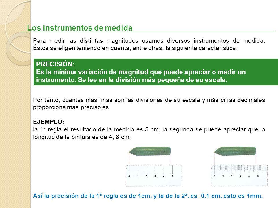 Los instrumentos de medida