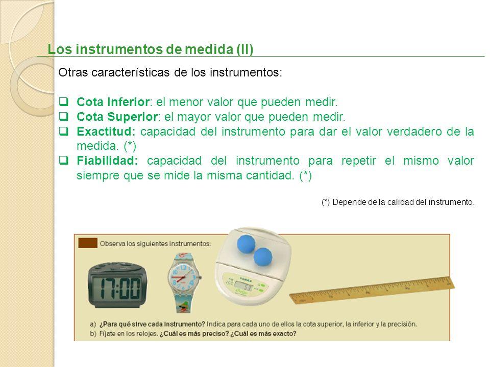 Los instrumentos de medida (II)