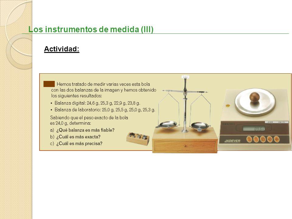 Los instrumentos de medida (III)