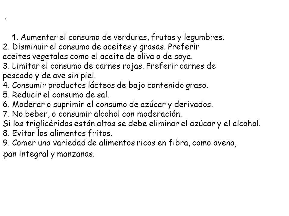 Recomendaciones para una alimentación sana