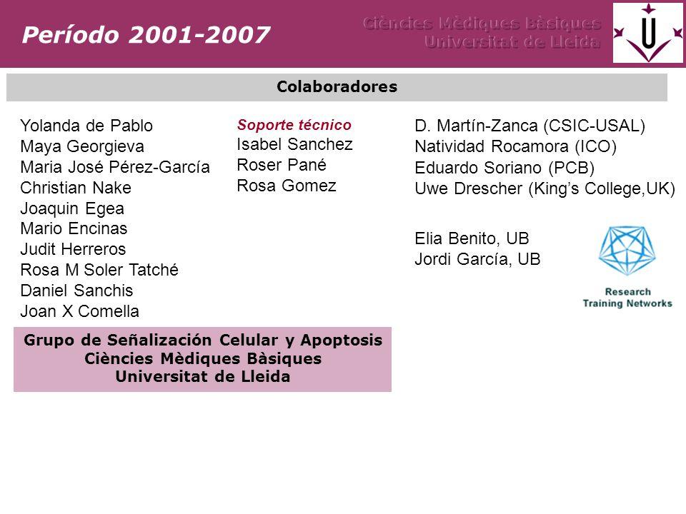 Grupo de Señalización Celular y Apoptosis Ciències Mèdiques Bàsiques