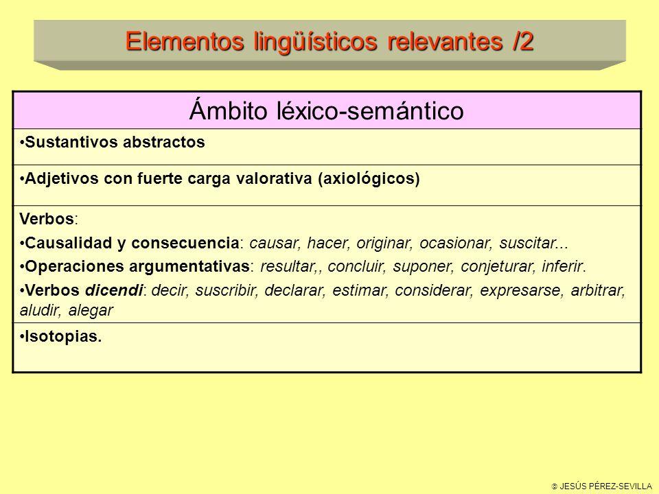 Elementos lingüísticos relevantes /2
