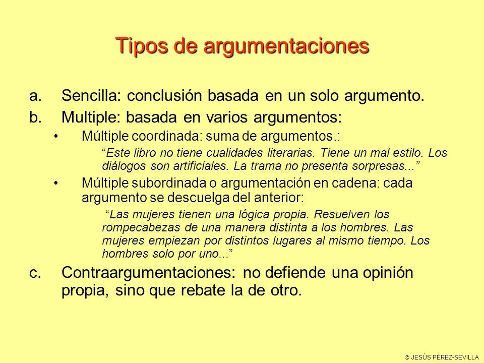 Tipos de argumentaciones