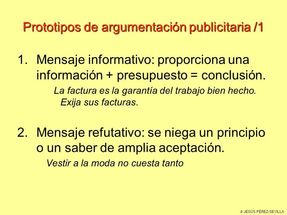 Prototipos de argumentación publicitaria /1
