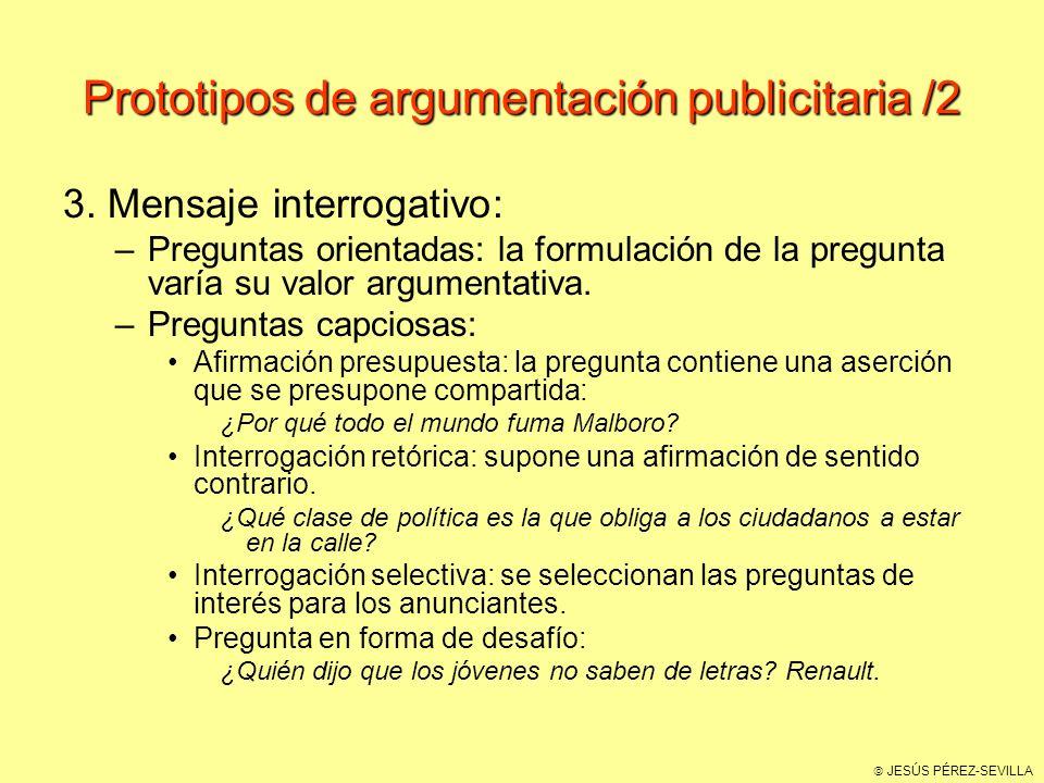 Prototipos de argumentación publicitaria /2