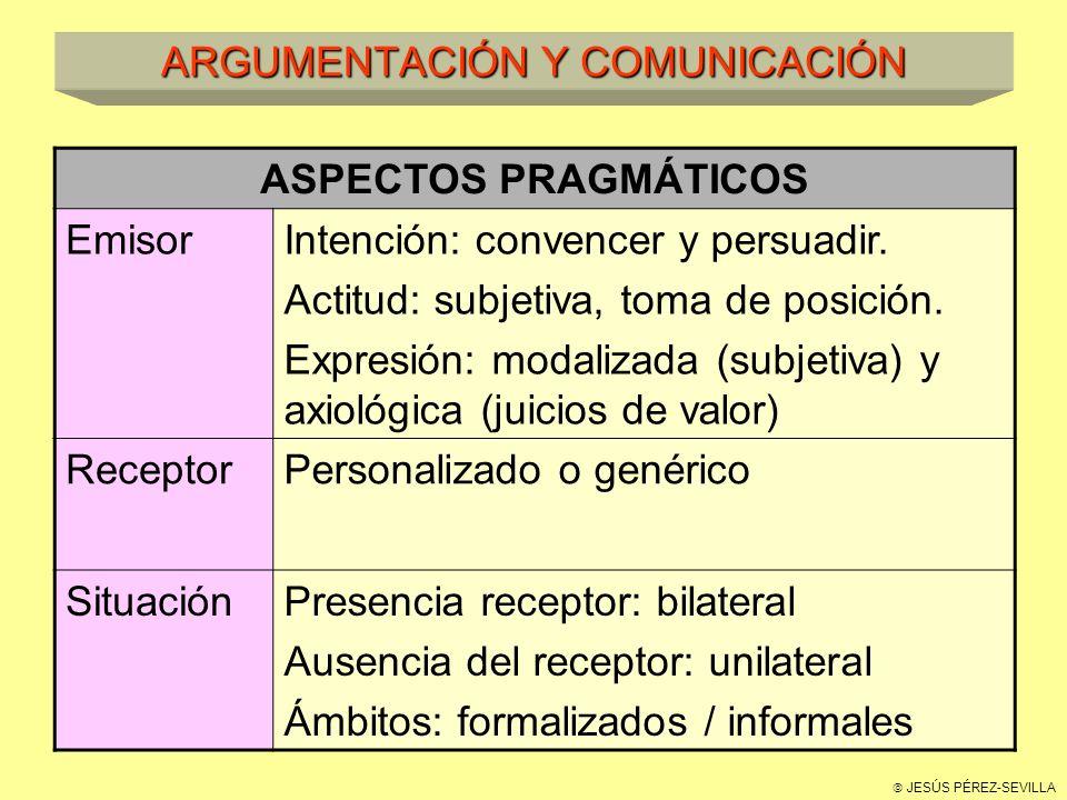 ARGUMENTACIÓN Y COMUNICACIÓN