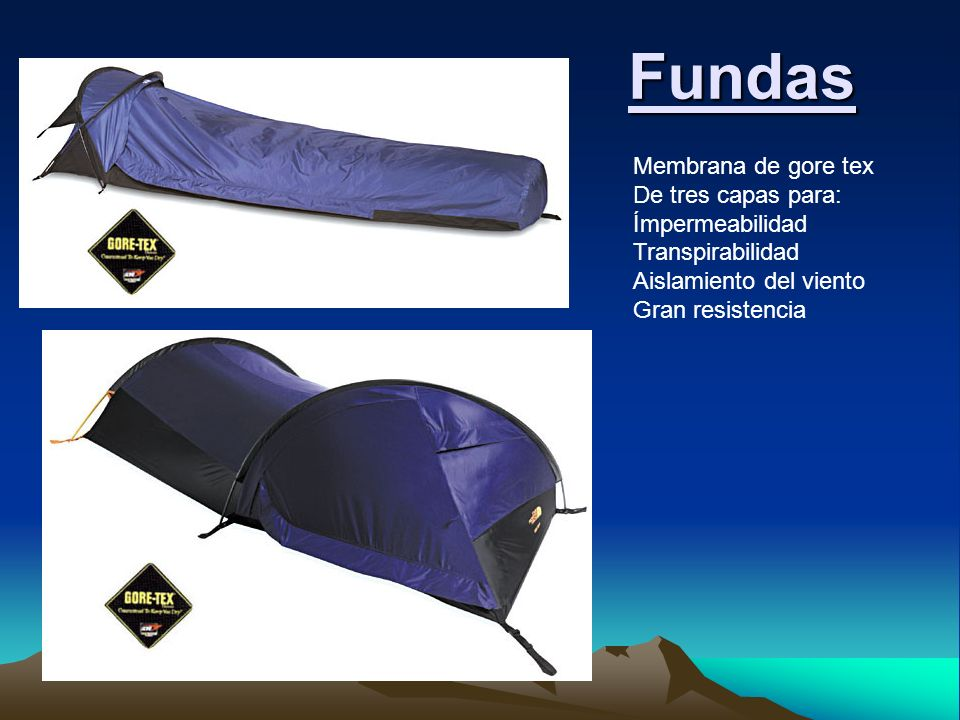 Fundas Membrana de gore tex De tres capas para: Ímpermeabilidad