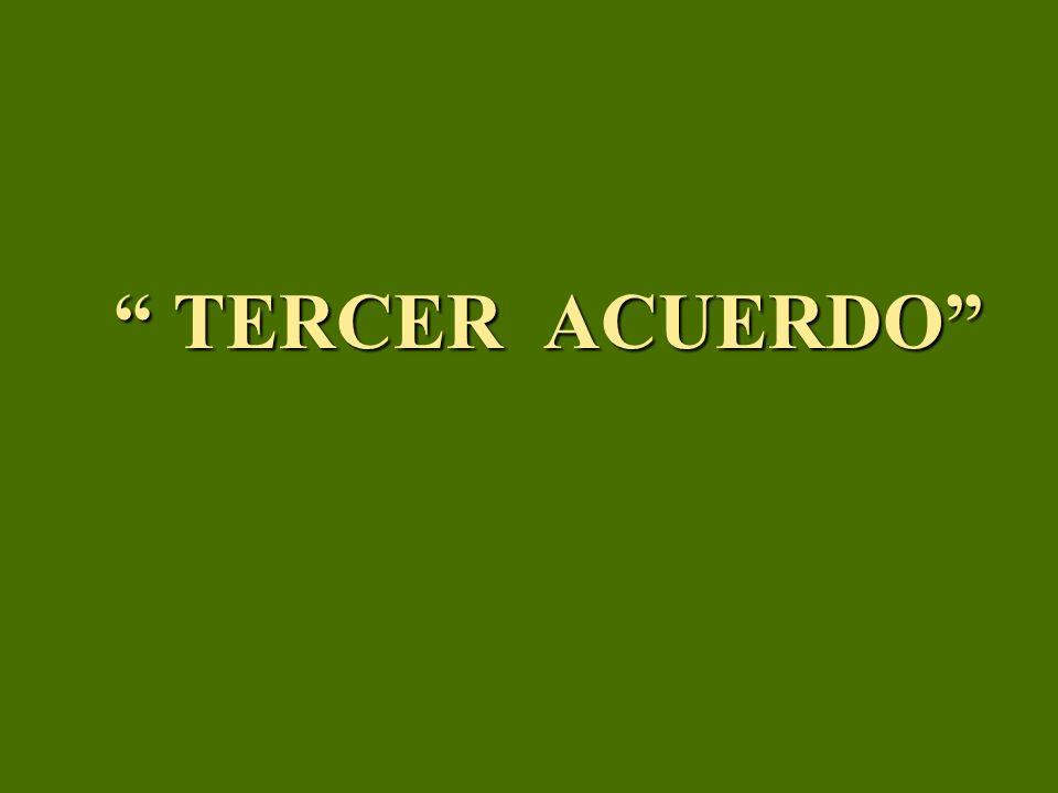 TERCER ACUERDO