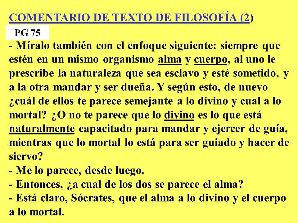 COMENTARIO DE TEXTO DE FILOSOFÍA (2)