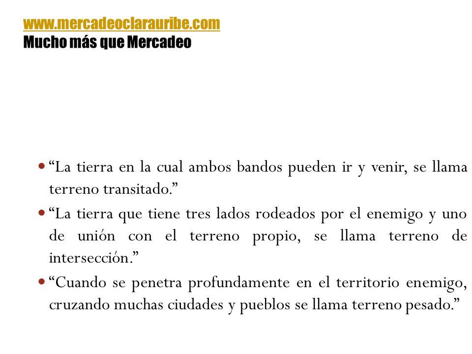 www.mercadeoclarauribe.com Mucho más que Mercadeo. La tierra en la cual ambos bandos pueden ir y venir, se llama terreno transitado.